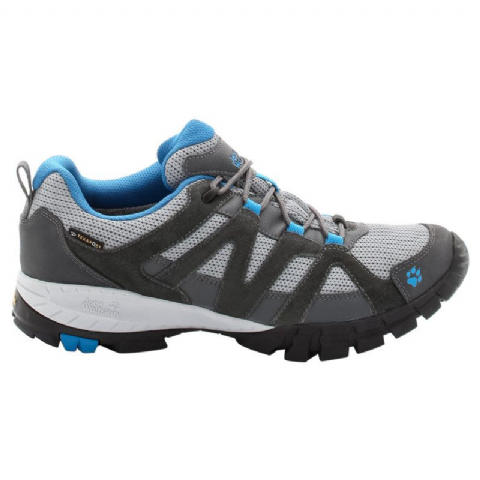 Jack Wolfskin Mens Volcano Low Texapore - Waterproof Walking Shoe - Blue
